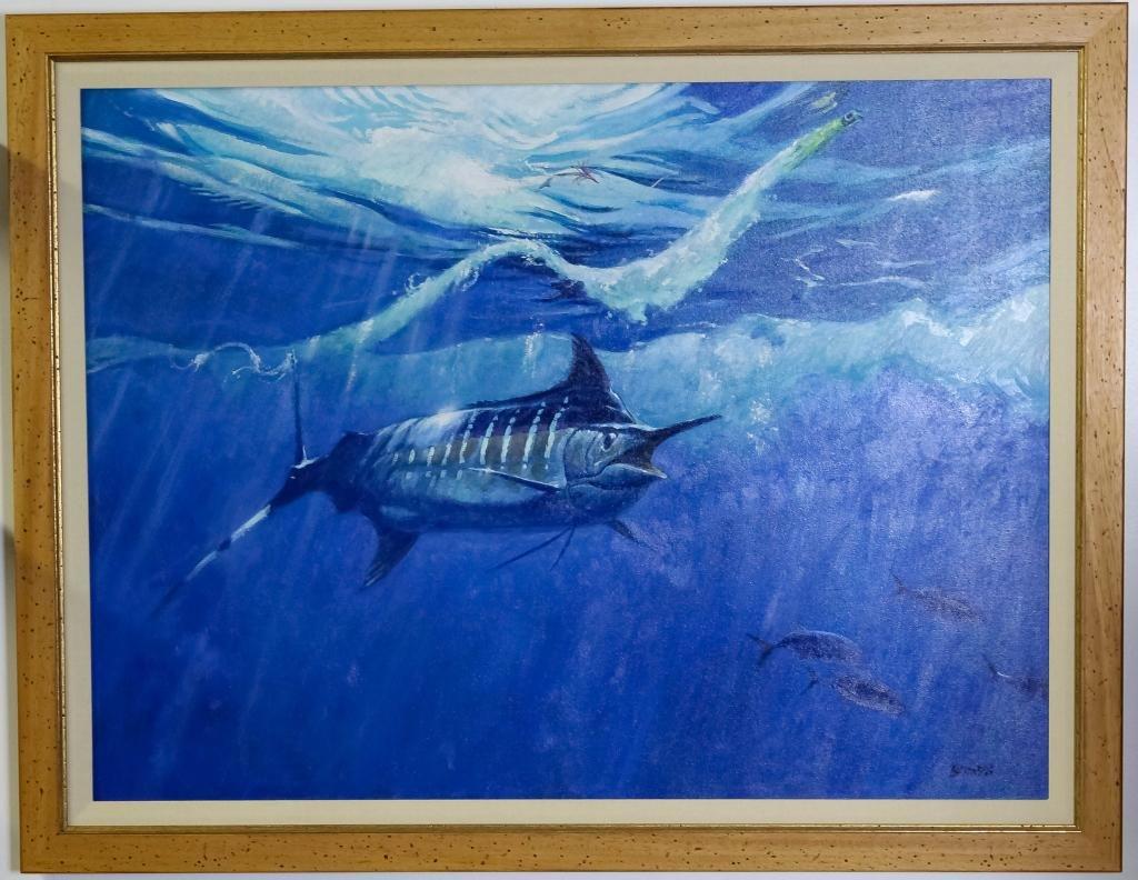 Al Barnes 1937-2015 American Marlin Fish Painting