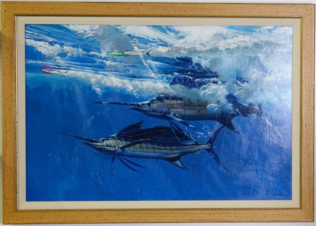 Al Barnes 1937-2015 American Sailfish Painting
