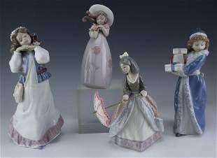 LOT of 4 Lladro Nao Spanish Porcelain Figurines