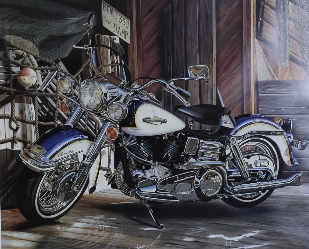 Scott Jacobs Harley Davidson Motorcycle Serigraph
