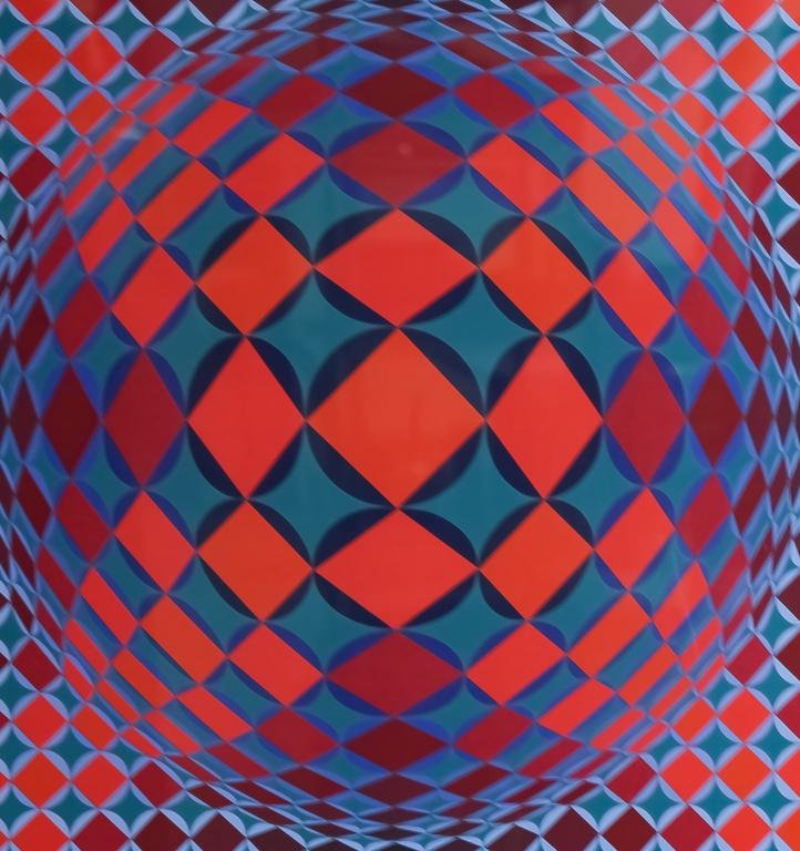 Victor Vasarely Optic Art L/E Serigraph Silkscreen