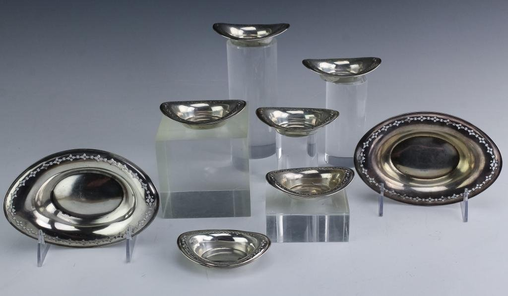 8 Tiffany & Co Sterling Silver Nut Candy Dishes