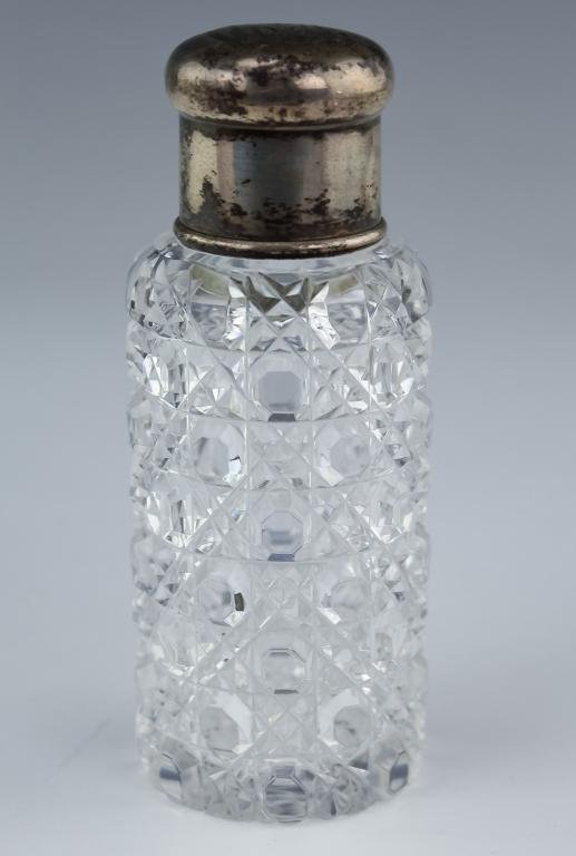 Tiffany & Co Sterling Silver Crystal Scent Bottle