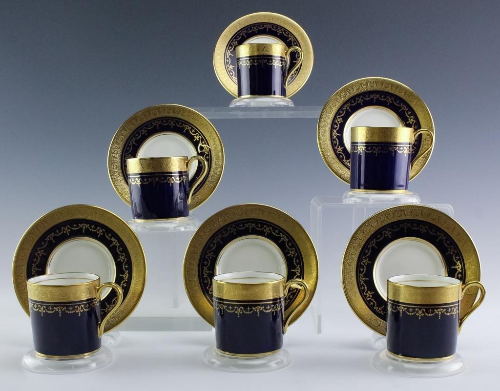 12pc Aynsley English Porcelain Demitasse Tea Set