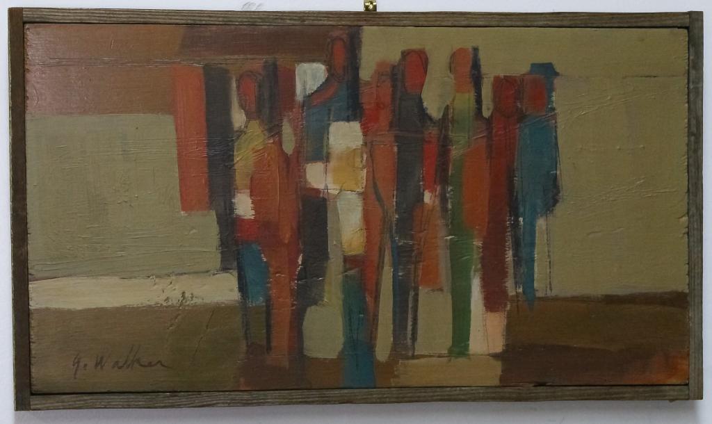 Glenn Walker American Modernist Abstract Painting