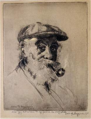 Elias Grossman American Etching Pipe Contentment