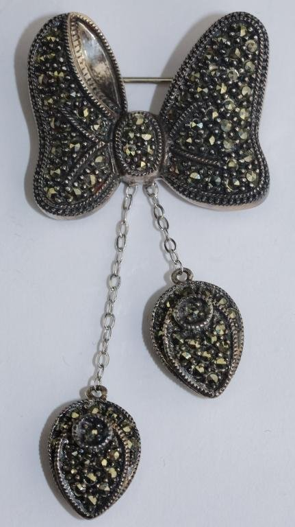 Judith Jack Disney Dangling Bow Drop Brooch Pin