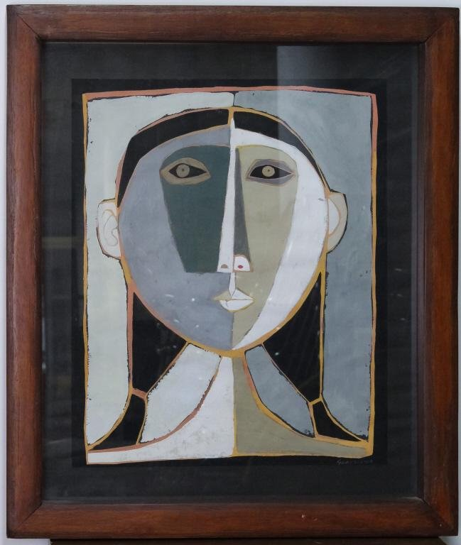 Oswaldo Guayasamin Ecuador Portrait Latin Painting