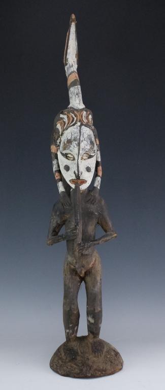 Sepik Papua New Guinea Wooden Ancestral Figure