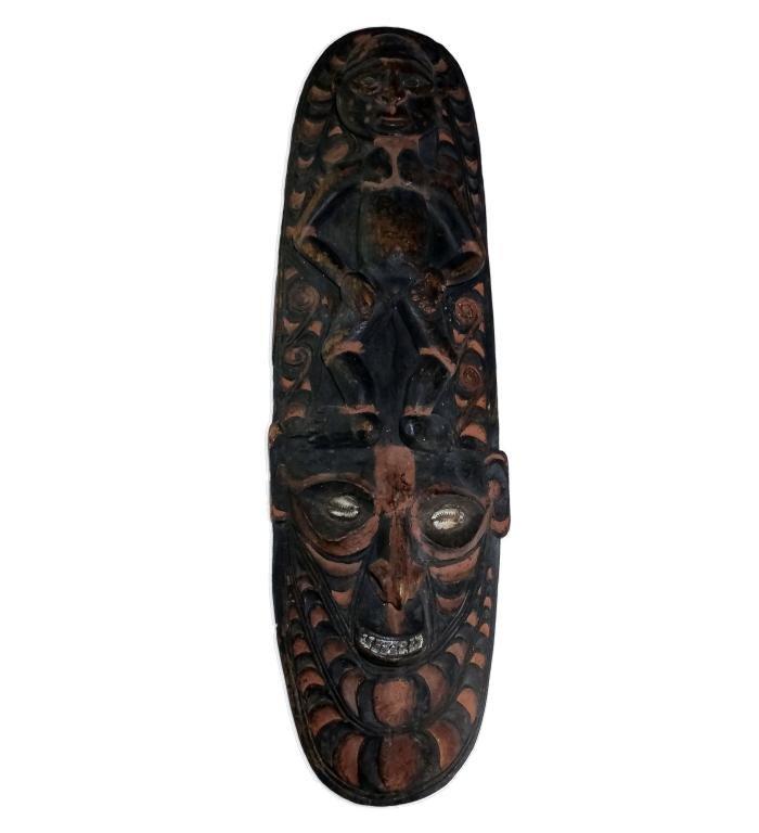 Mindimbit Papua New Guinea Wood Ceremonial Mask