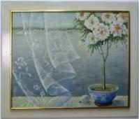 Mystery Stella Oil On Canvas Still Life Painting