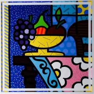 """Romero Britto b.1963 Still Life """"Home"""" Serigraph"""