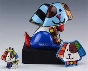 Romero Britto LOT of Figurine & Sculpture & Dish