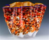 "DALE CHIHULY Seaform Art Glass 18"" Vase Vessel"