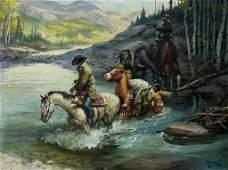 Charlie Dye American 19061972 Western Painting