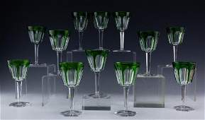 Baccarat Harcourt Emerald Green Rhine Wine Gobblet