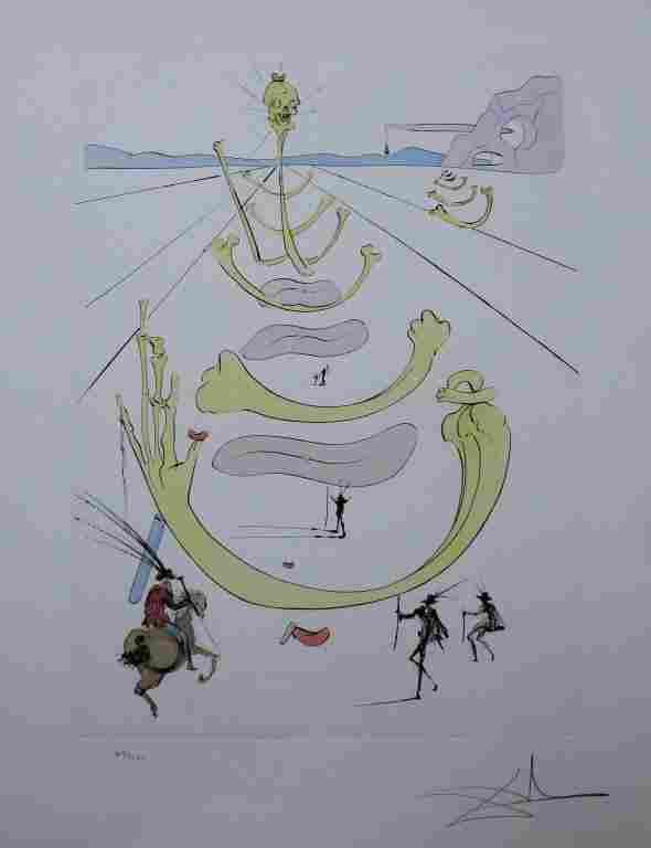 Salvador Dali Masque de la Mort Etching SIGNED