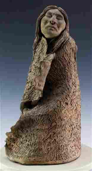 Jim Jackson Studio Art Pottery Indian Sculpture