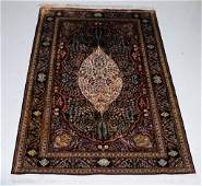 Oriental Fine Silk Woven Carpet Area Rug 60 x 90