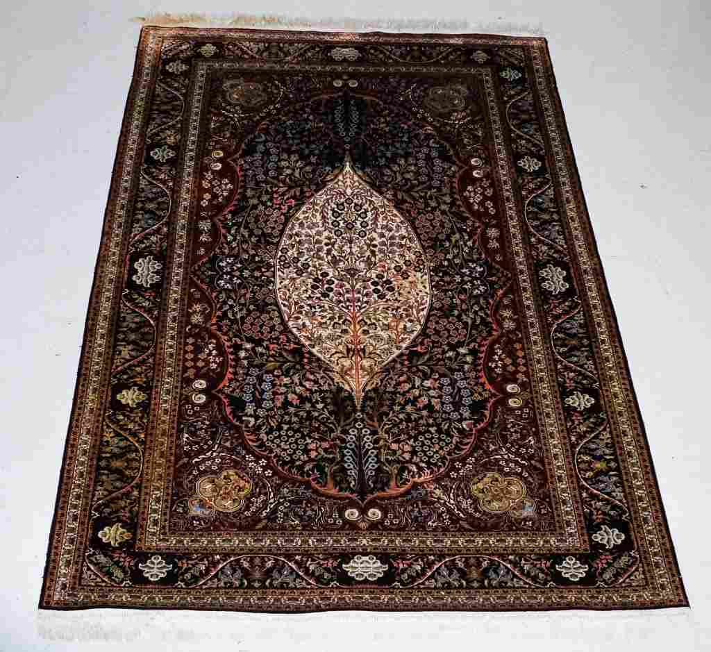 "Oriental Fine Silk Woven Carpet Area Rug 60"" x 90"""