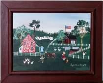 Joyce Basye b.1947 American Folk Art Painting