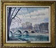 Jacques Louis Pierre French Landscape Oil Painting