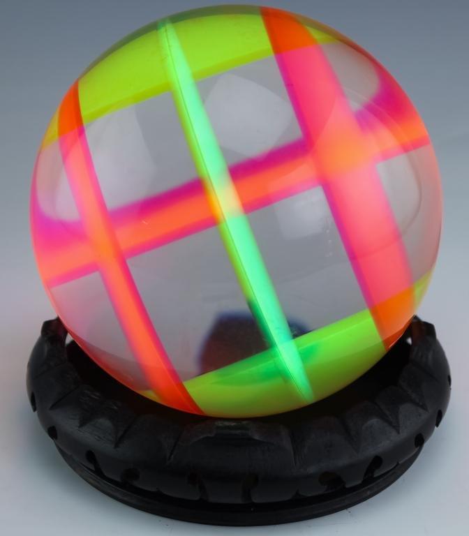 Vasa Mihich b.1933 Modern Prismatic Lucite Sphere