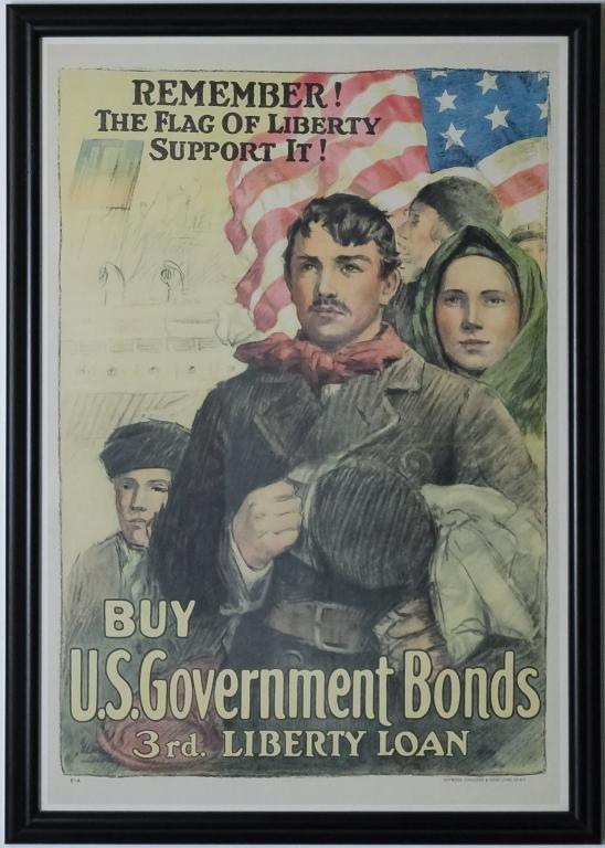 WWI U.S. Government Bonds Liberty Loans Poster