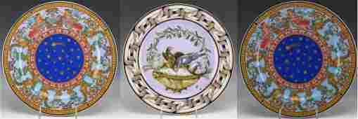 3 Versace Rosenthal Porcelain Charger Plates LOT