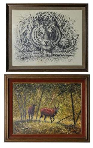 2 Bo Newell American Oil Painting Pencil Drawing