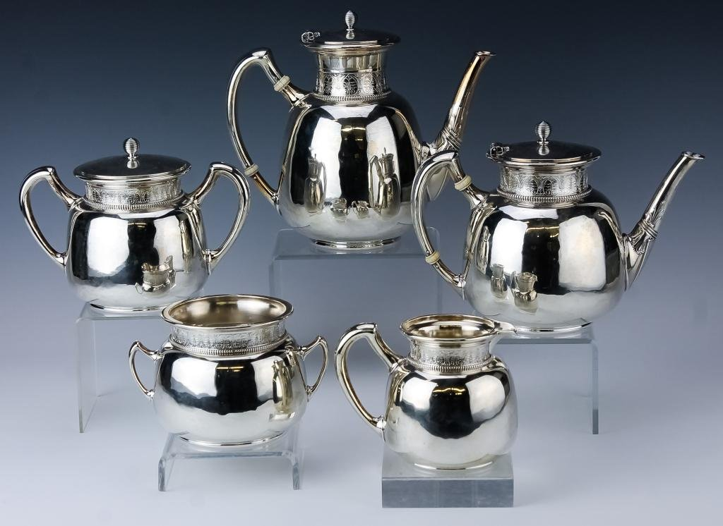 Gorham Sterling Silver 5 Pcs Tea Coffee Set 2627g