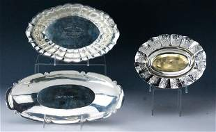 Sterling Silver Oval Basket Tray Bowls 722g
