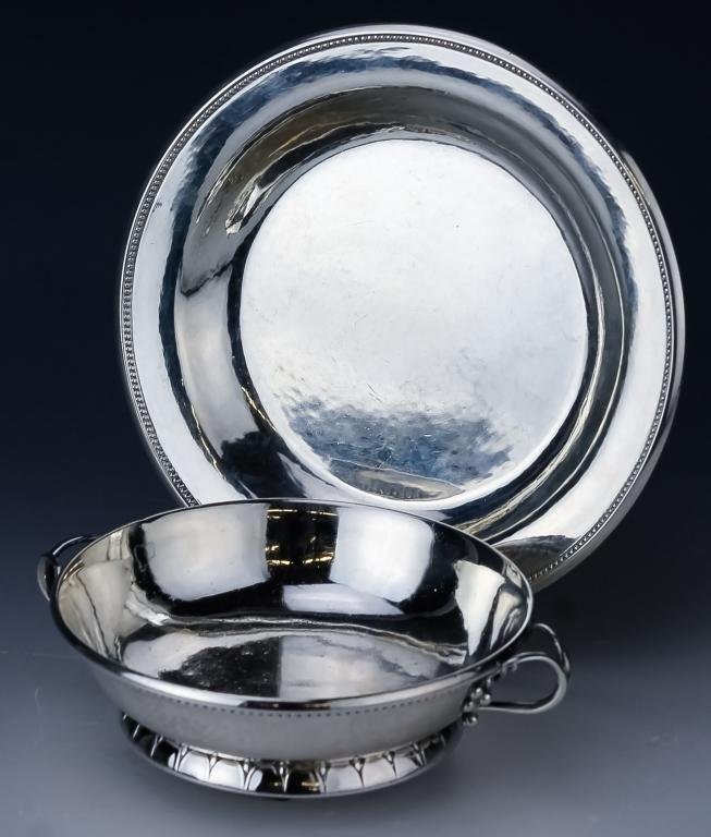 Georg Jensen Sterling Silver Bowl & Tray 349gr.