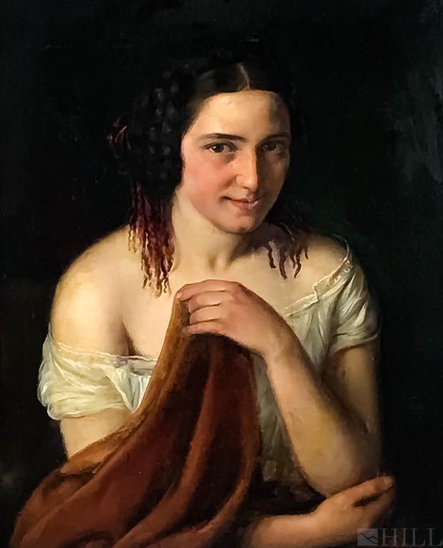 19th Cen. Portrait Painting attr. Johann Baptist Reiter