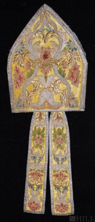 17th Century Austrian Brocade Viennese Bishop Mitre
