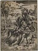 Albrecht Durer 1471-1528 Samson Fighting The Lion 15thC