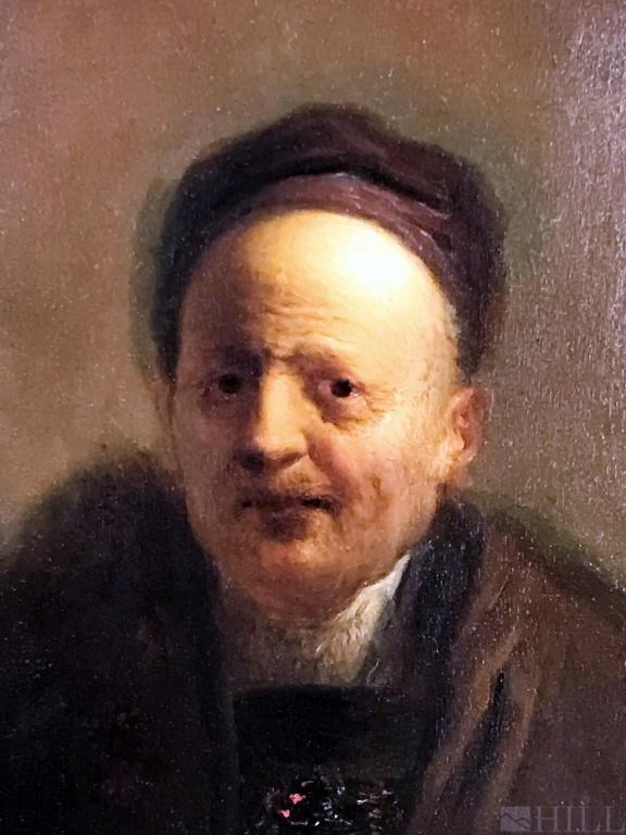 18th Cen Portrait Oil Painting attr. Christian Dietrich
