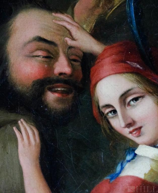 19th Century German School Merry Making Oil Painting