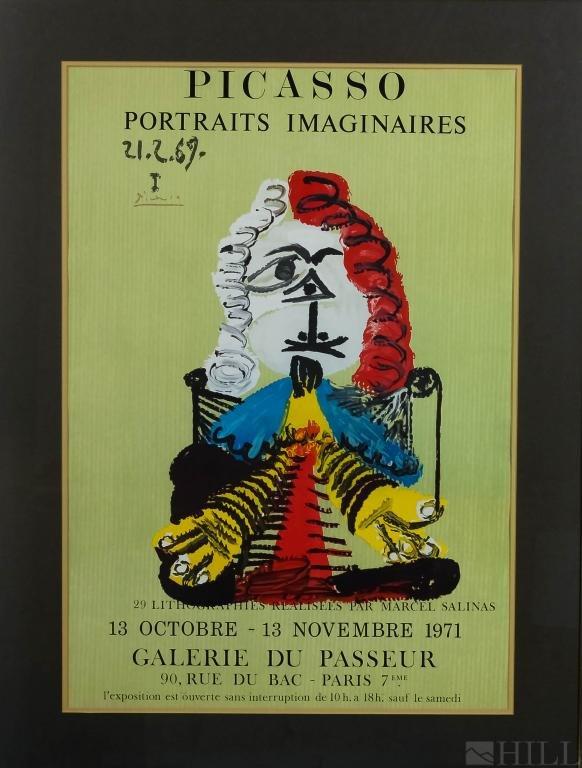 Pablo Picasso Portraits Imaginaires LE Lithograph