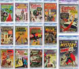 Estate Collection 14 CGC Graded Vintage Comic Book