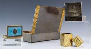 Vanity Trinket Boxes Sterling Silver Humidor
