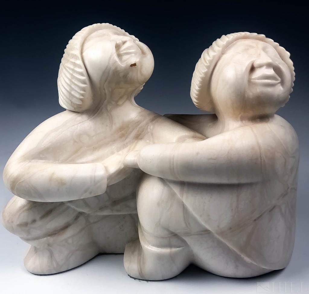 Christophe Olivier Inuit Style Alabaster Statue