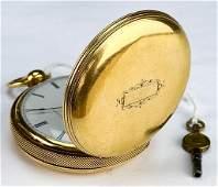 18k Hunter Appleton Tracy American Pocket Watch