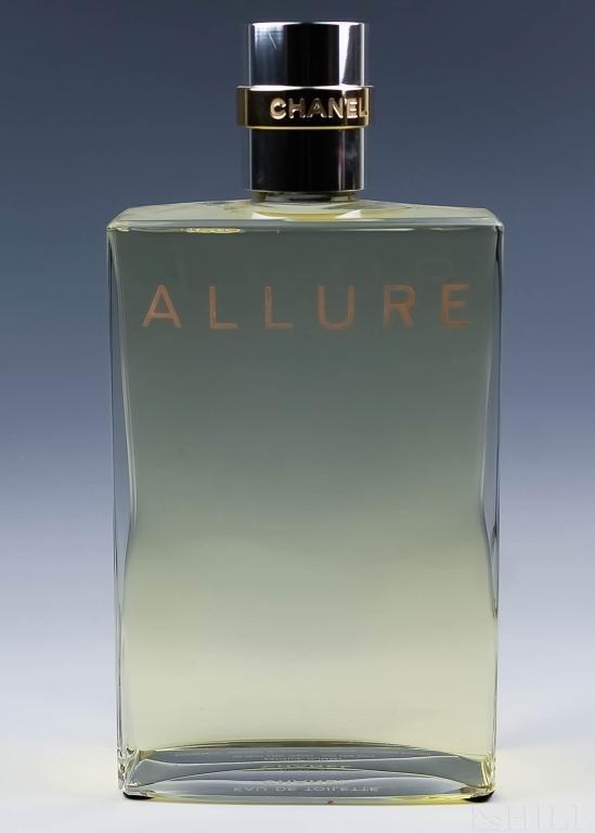 Large Signed CHANEL ALLURE Factice Perfume Bottle