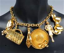 CHANEL Gold Tone Ladies Lucky Charms Necklace