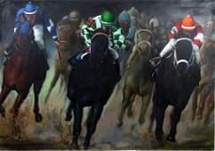 Ferjo Fernando Oliveira b.1946 Race Horse Painting