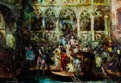European Impressionist Venice Oil Painting SIGNED