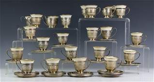 Gorham Sterling Silver Lenox Demitasse Tea Sets