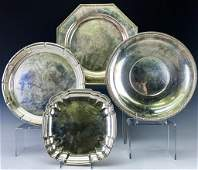 Set of Four Sterling Silver Bowl Trays 2810g
