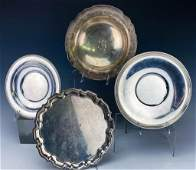 Lot of 4 Sterling Silver Fine Serving Dishes 1590g